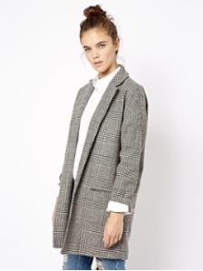 Asos- manteau oversize à carreaux - 87,61 euros