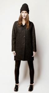 Tara Jarmon - Manteau cocon en lainage fantaisie - 340 euros
