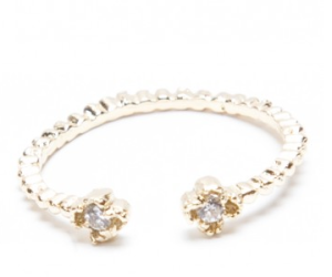 Brandy Melville - Gold Double Gem ring - 5 euros