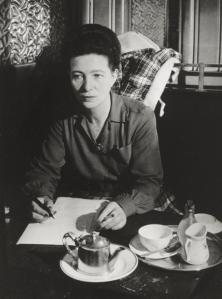 Simone de Beauvoir au Flore