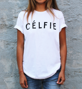 Sincerely Jules - Celfie Tee - 39 dollars